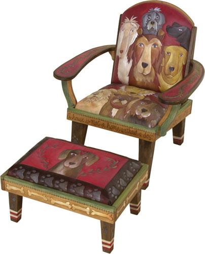 Evergreen fine american crafts for Overstuffed armchair